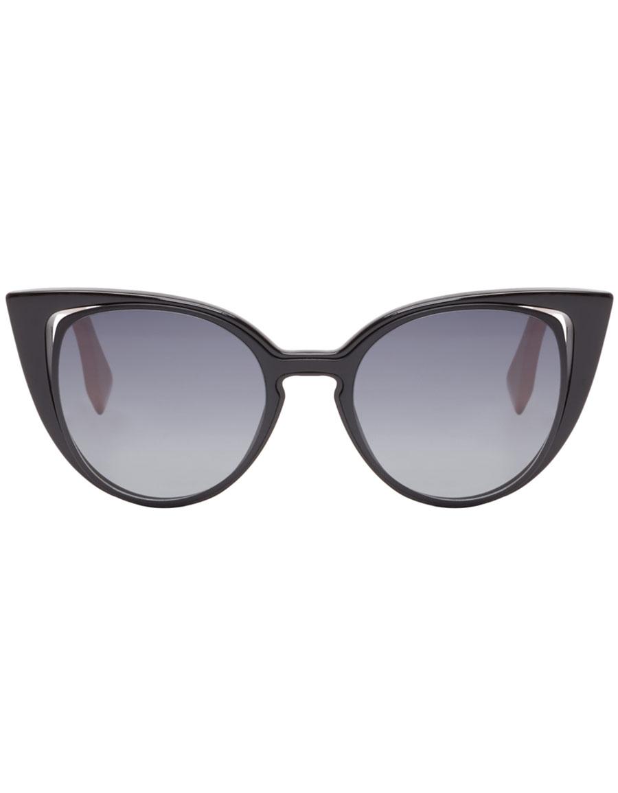 FENDI Black Cat Eye Sunglasses