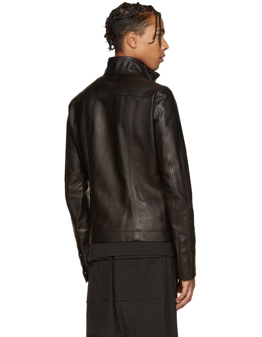 RICK OWENS Black Mollino's Biker Jacket