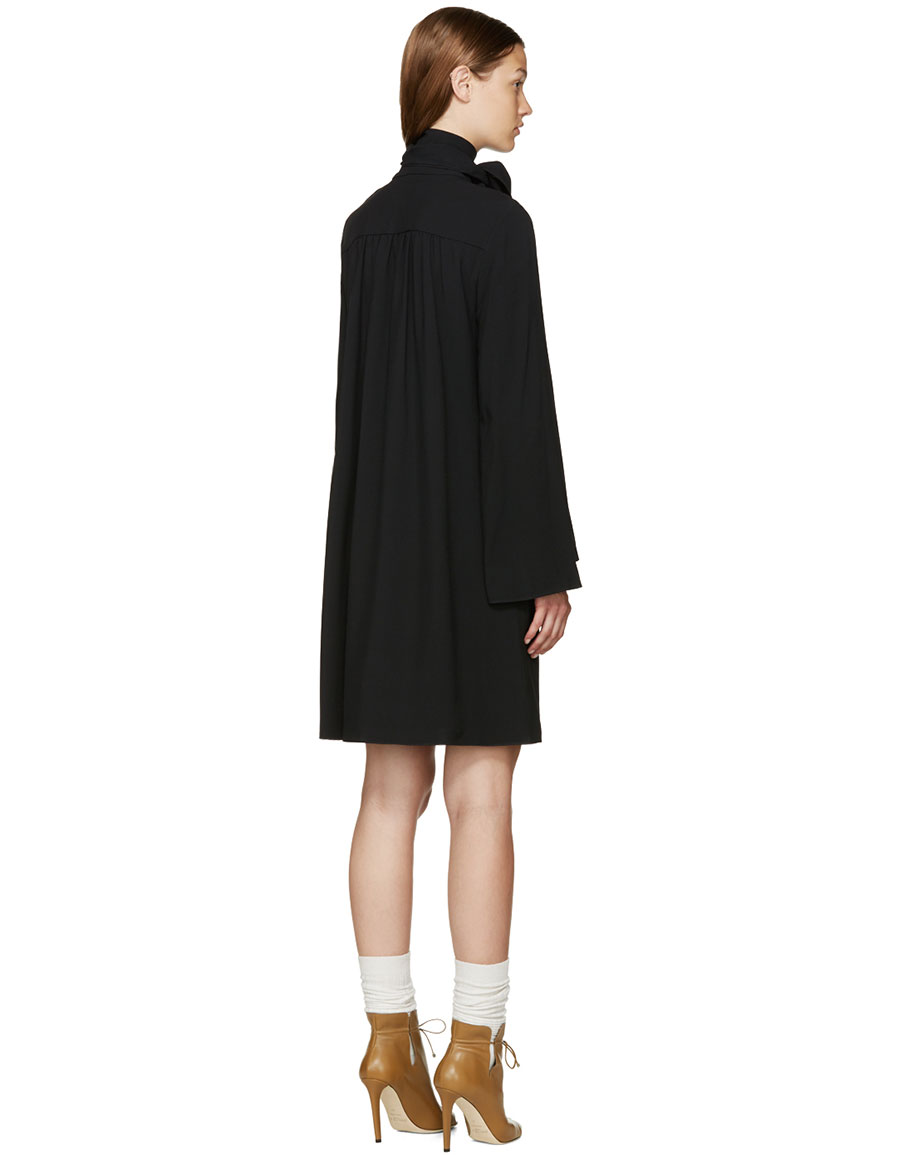 CHLOÉ Black V Neck Dress