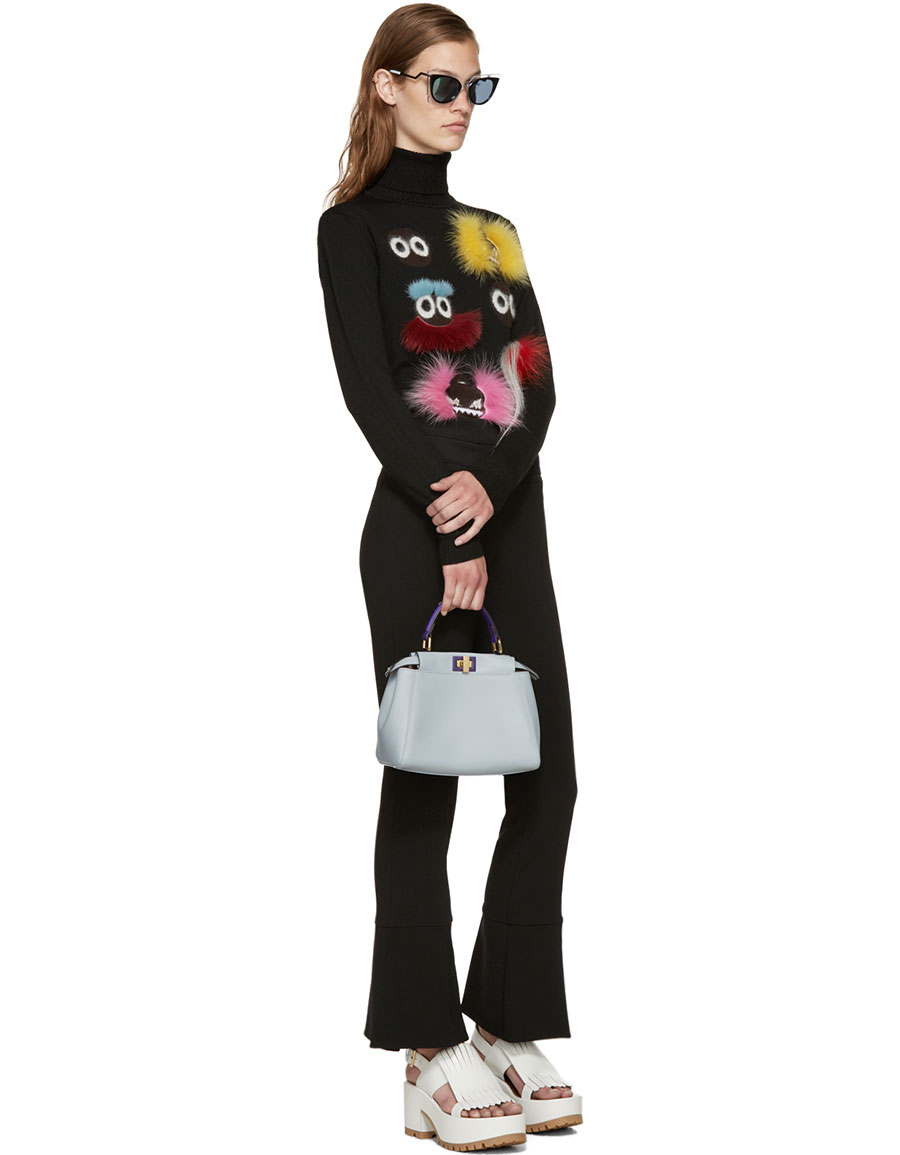 FENDI Black Wool Wonder Monster Turtleneck