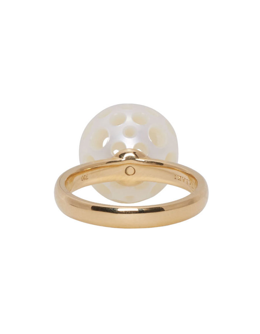 MELANIE GEORGACOPOULOS Gold Drilled Pearl Tasaki Edition Ring