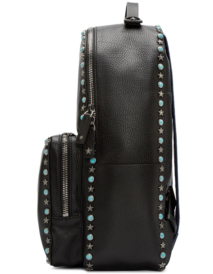VALENTINO Black Stone & Stars Backpack