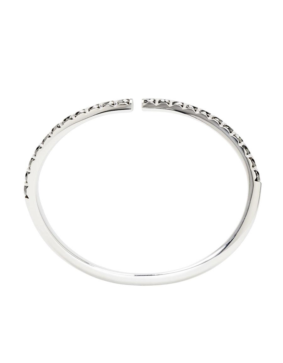 MAISON MARGIELA FINE JEWELLERY White Gold & Black Diamond Split Alliance Bracelet