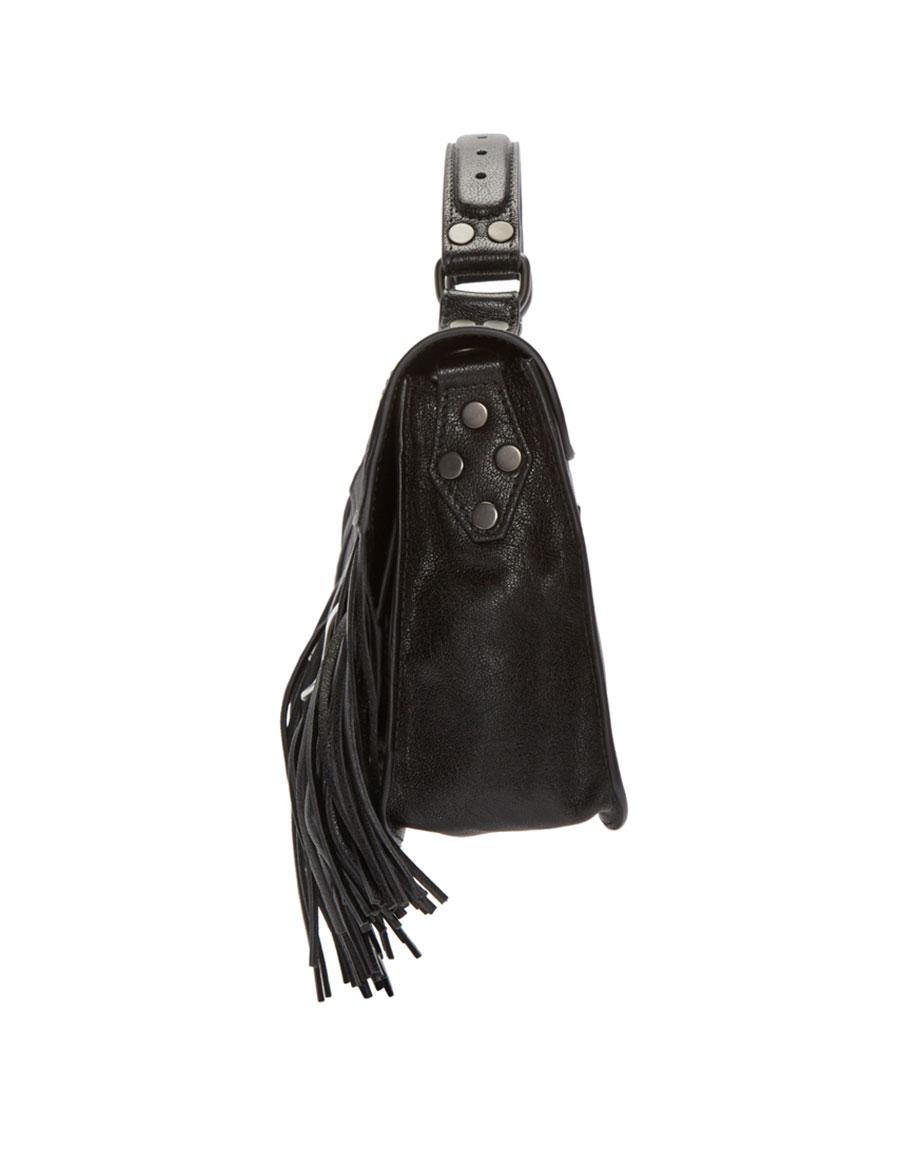 PROENZA SCHOULER Black PS1 Fringe Tiny Satchel
