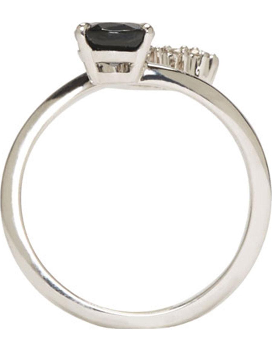 MAISON MARGIELA FINE JEWELLERY White Gold Deconstructed Pompadour Ring