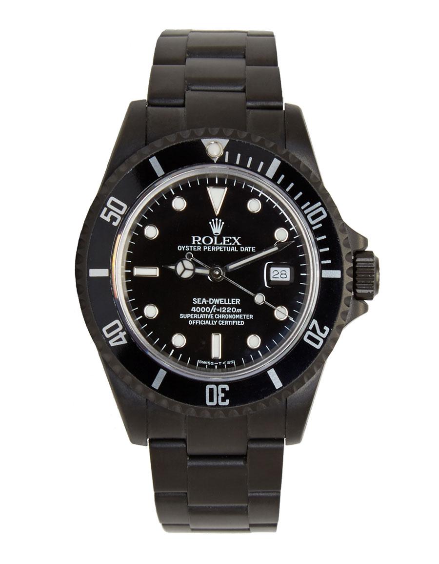 ROLEX Matte Black Limited Edition Rolex Sea Dweller Watch