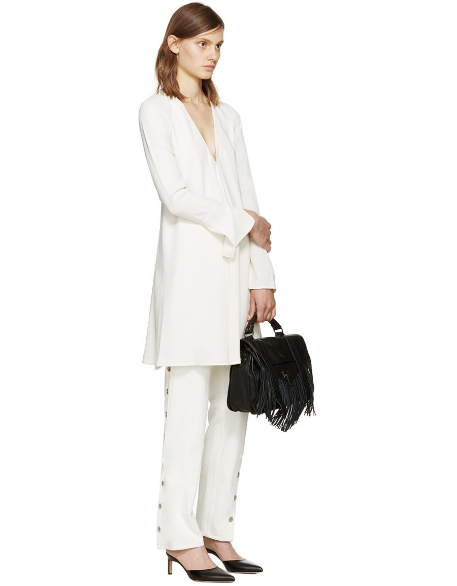 PROENZA SCHOULER Off White Crepe Dress
