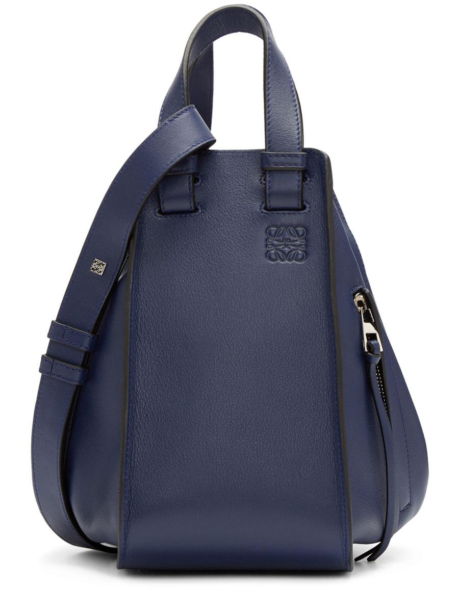 LOEWE Navy Small Hammock Bag