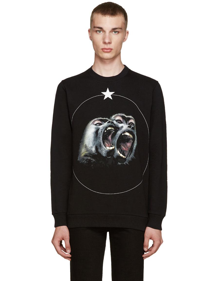 GIVENCHY Black Monkey Brothers Sweatshirt