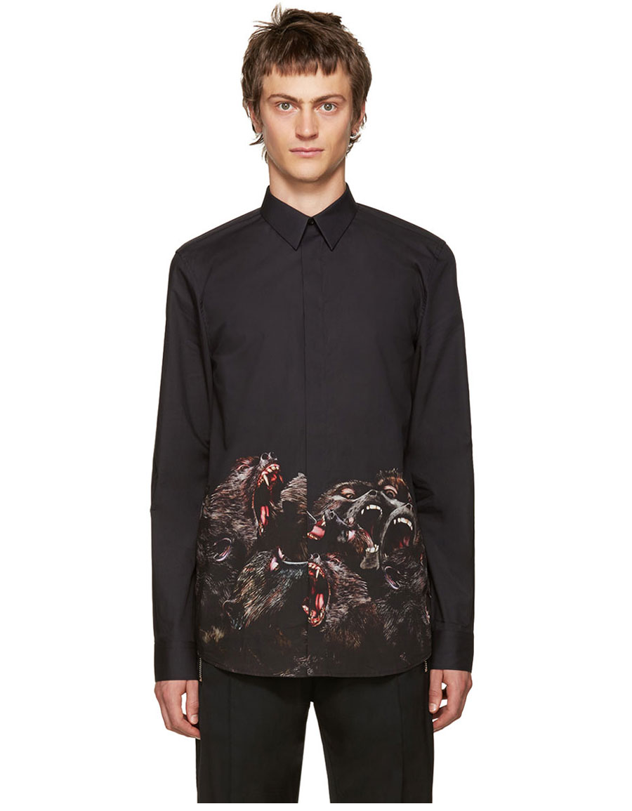 GIVENCHY Black Monkey Brothers Shirt