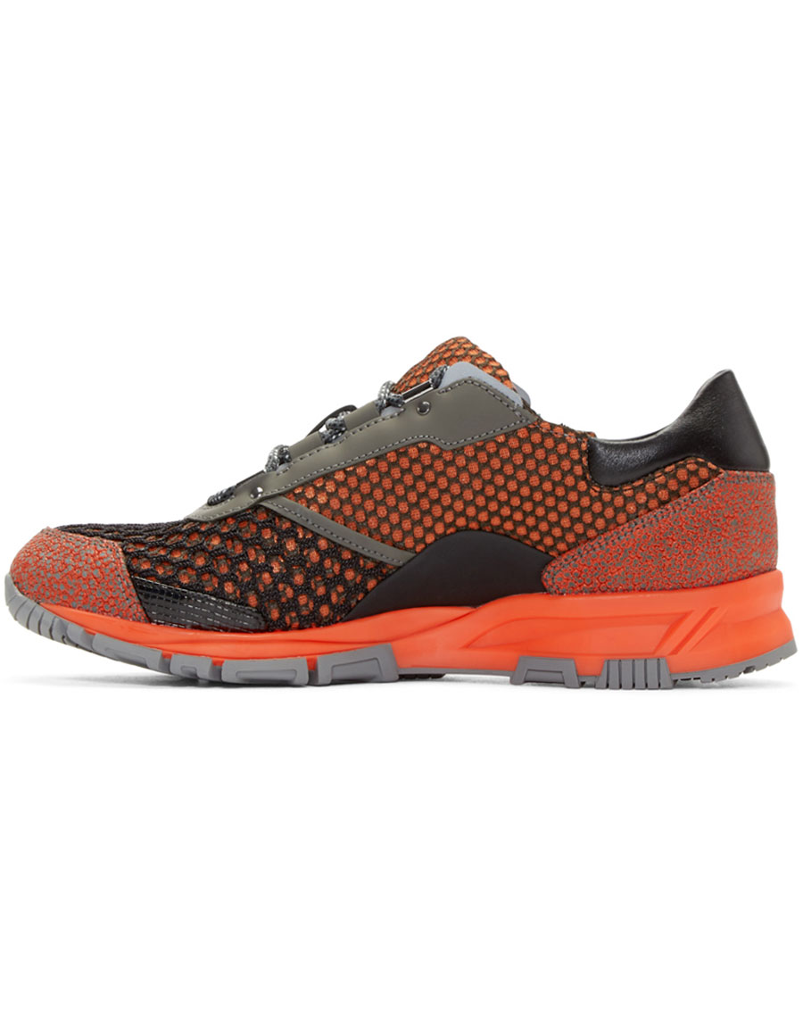 LANVIN Orange Mix Sneakers