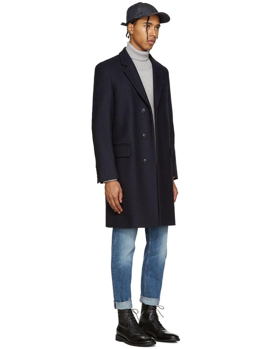 MARC JACOBS Navy Wool Coat
