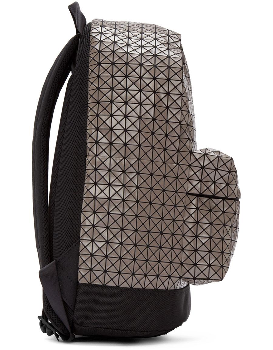 d4607e205517 BAO BAO ISSEY MIYAKE Grey Geometric Daypack Backpack · VERGLE