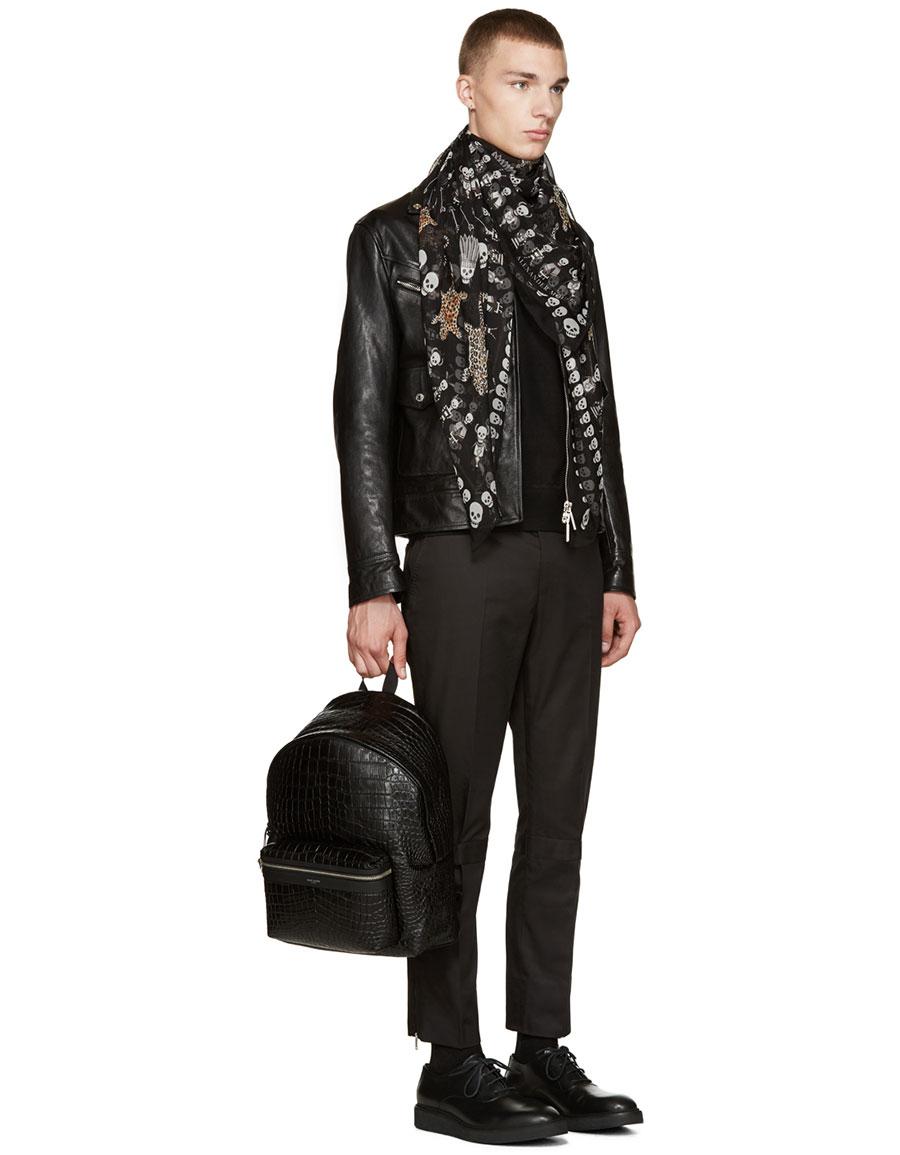ALEXANDER MCQUEEN Black Harness Pullover