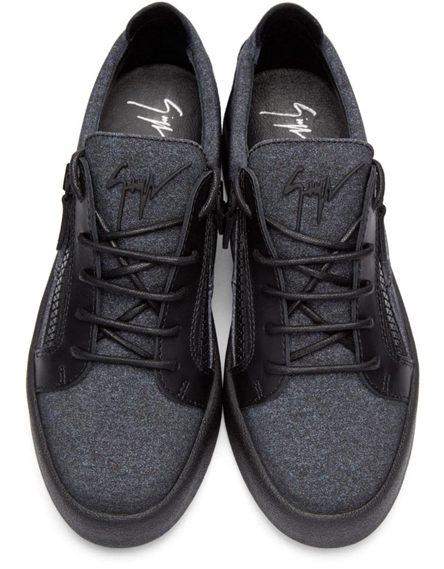 GIUSEPPE ZANOTTI Grey London Sneakers