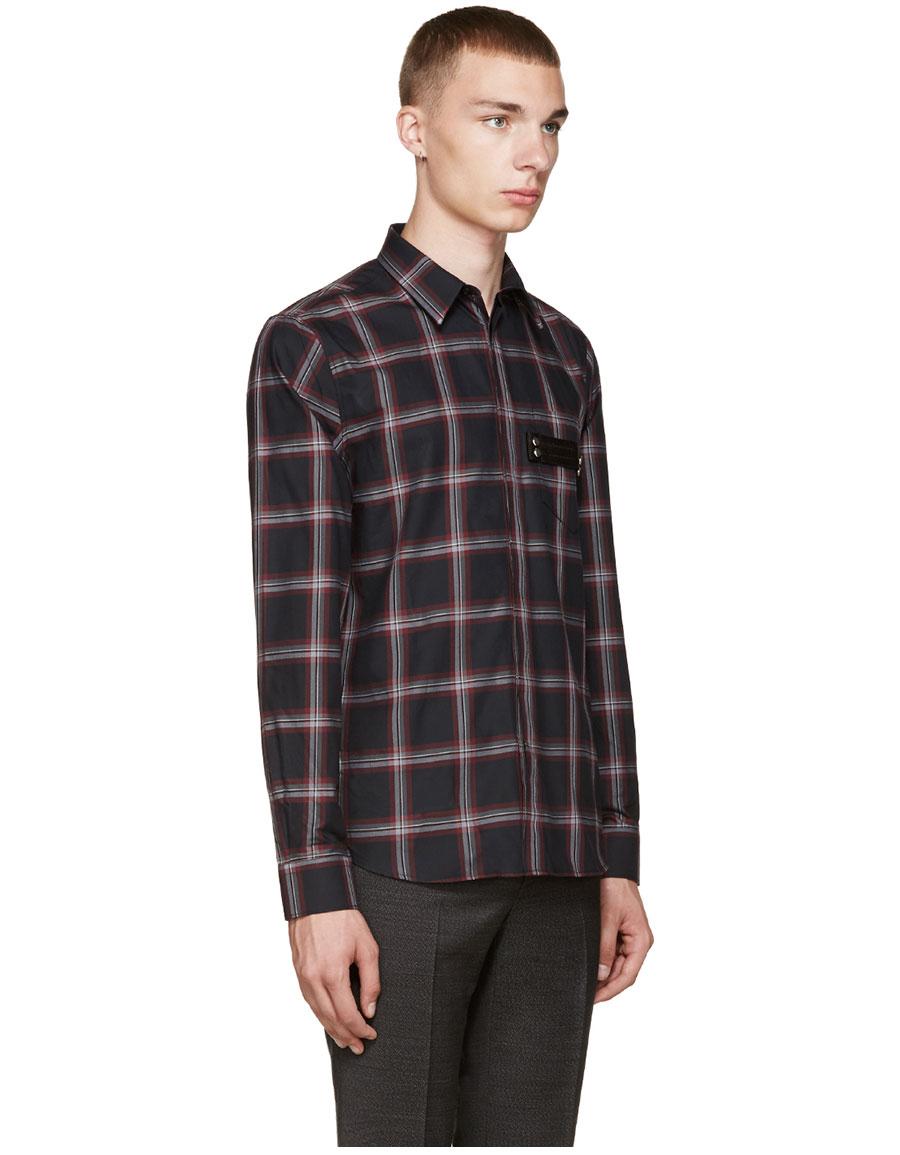 GIVENCHY Black Plaid Shirt