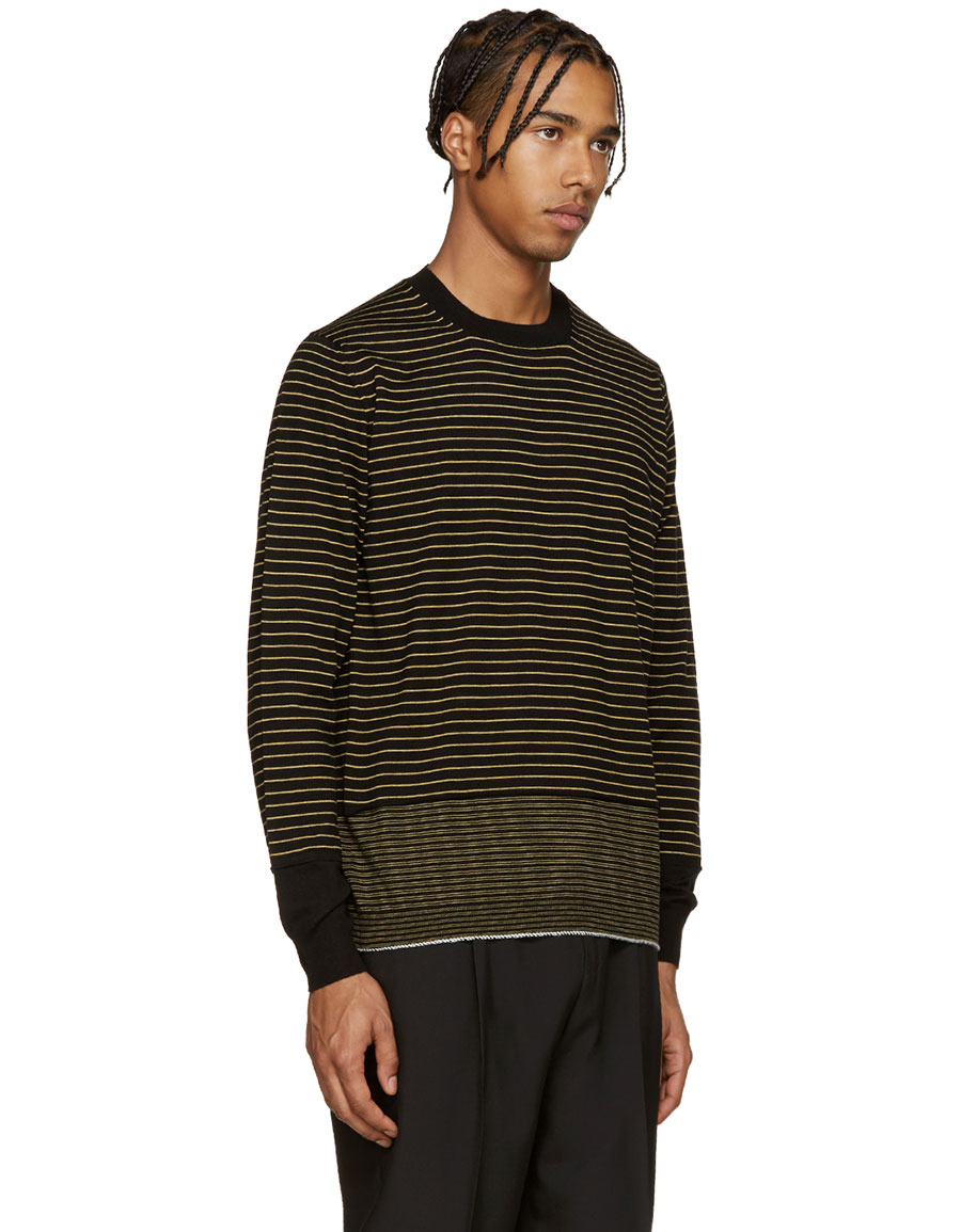 LANVIN Black & Yellow Merino Sweater