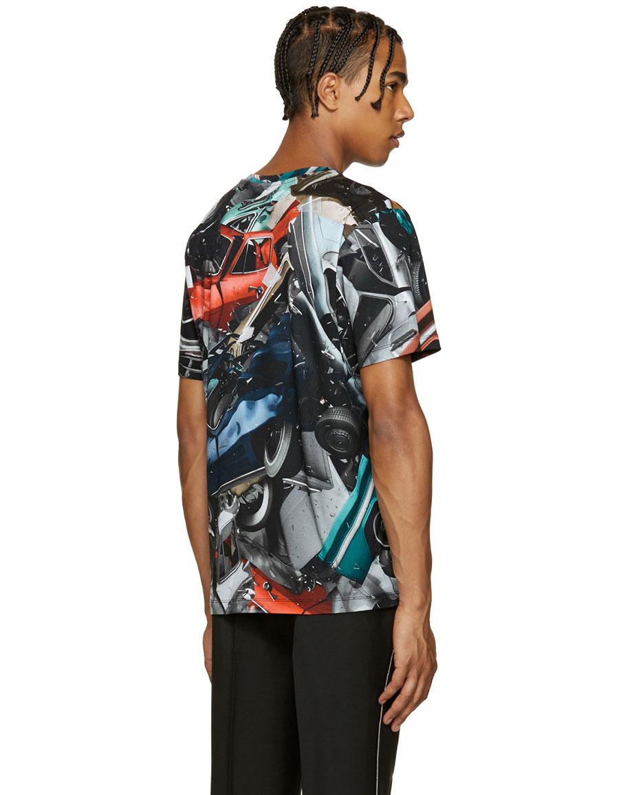 CHRISTOPHER KANE Multicolor Car Crash T Shirt