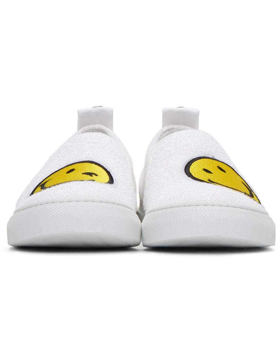 JOSHUA SANDERS White Smile Slip On Sneakers