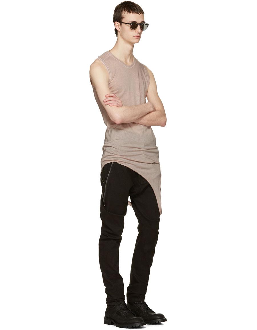 JULIUS Pink Suspend Cut & Sewn Tank Top