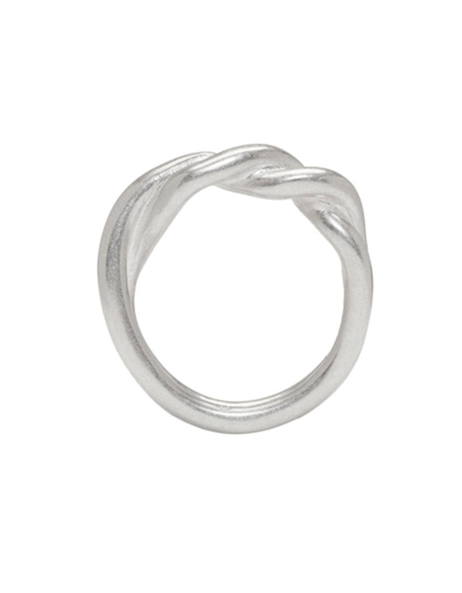 MAISON MARGIELA Silver Twisted Ring