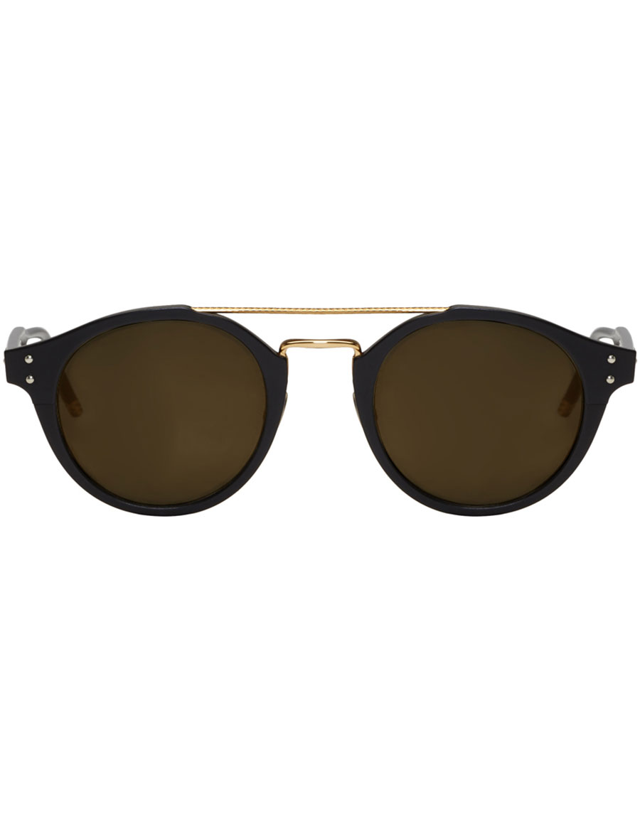 BOTTEGA VENETA Black Retro Pantos Sunglasses