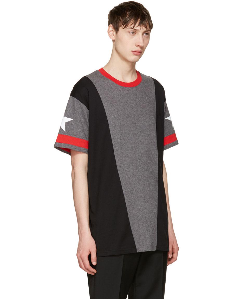 GIVENCHY Grey Star T Shirt