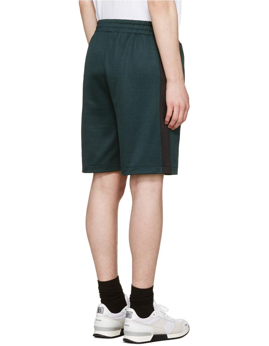 AMI ALEXANDRE MATTIUSSI Green Track Shorts