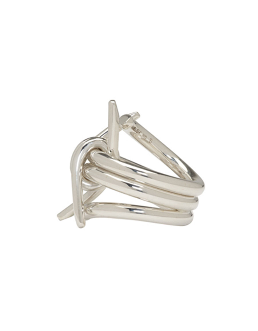 AMBUSH Silver SSS Barbwire 2 Ring