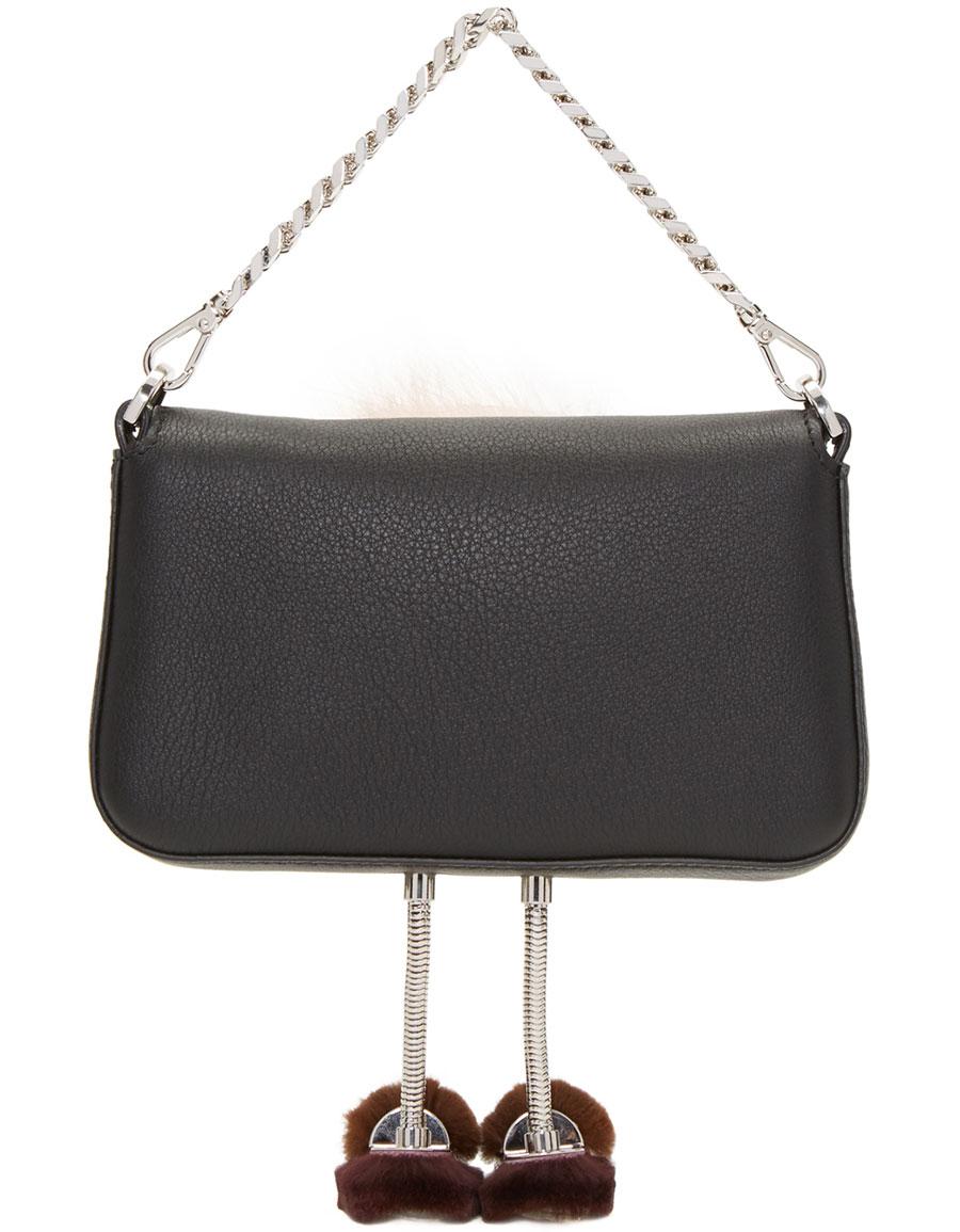 FENDI Black Eyes Micro Baguette Bag