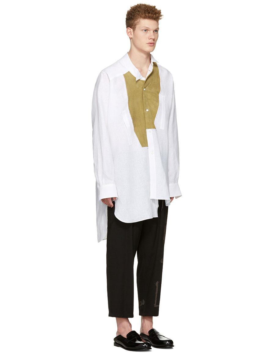 LOEWE White Asymmetric Bib Shirt