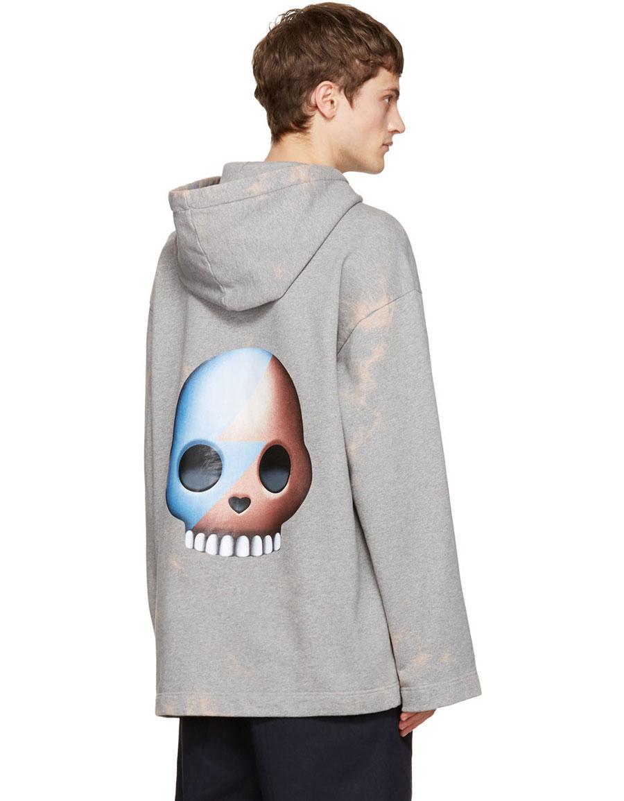 ACNE STUDIOS Grey Florida Skull Hoodie