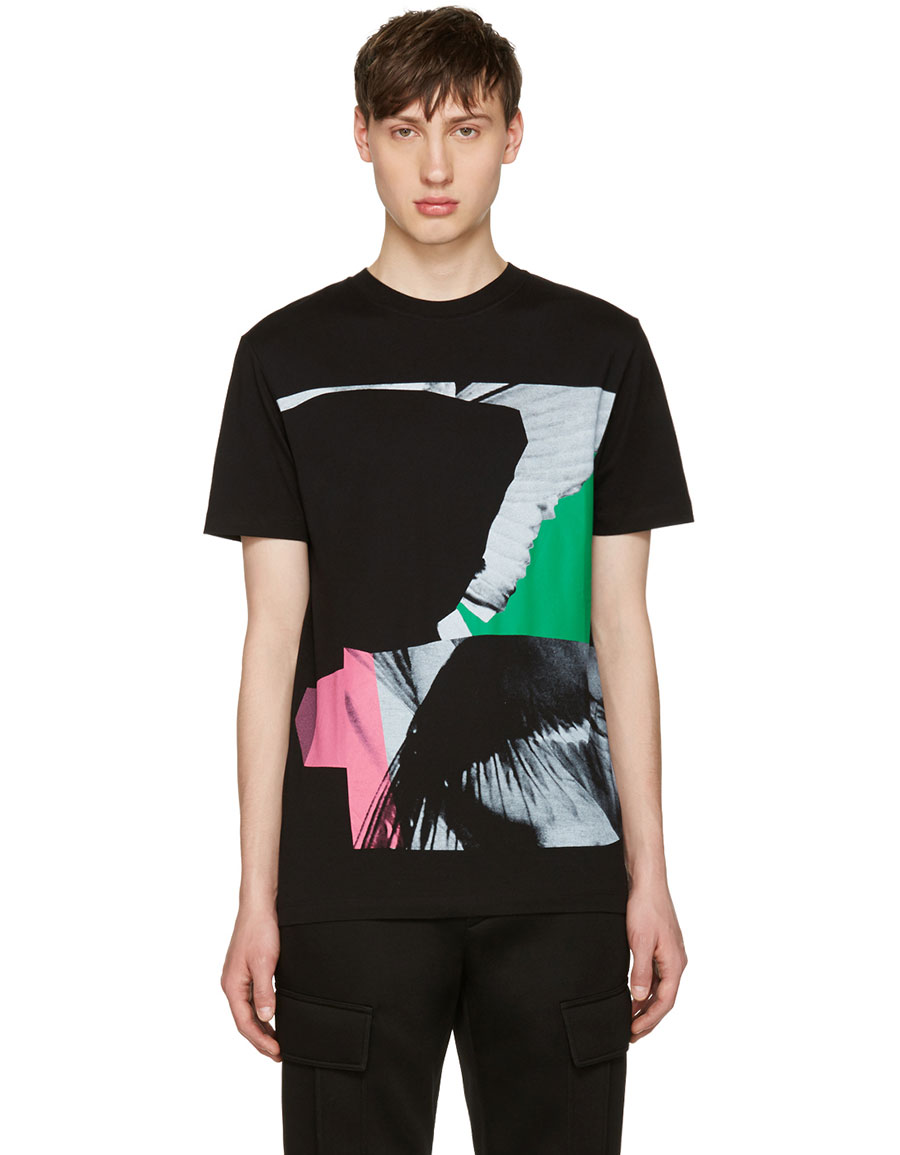 ALEXANDER MCQUEEN Black Wings Collage Classic T Shirt