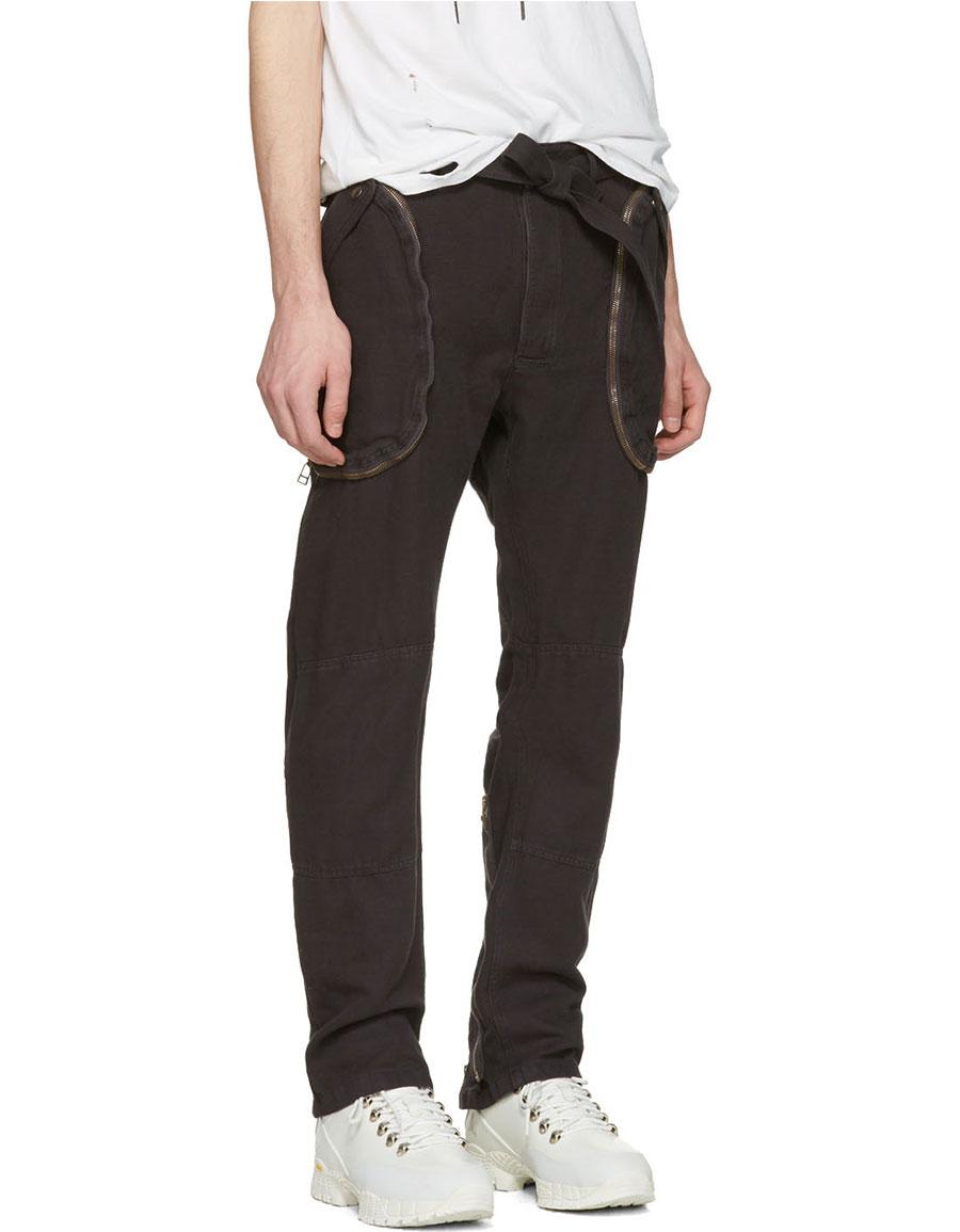 FAITH CONNEXION Black Cargo Trousers