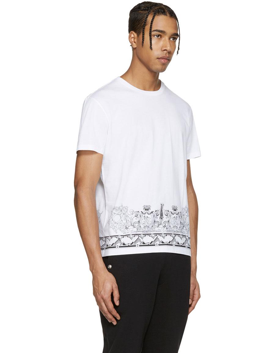 VERSUS White Print T Shirt