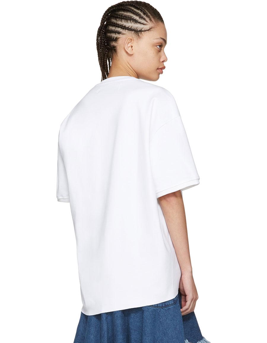 MARQUES ALMEIDA White Side Cord T Shirt