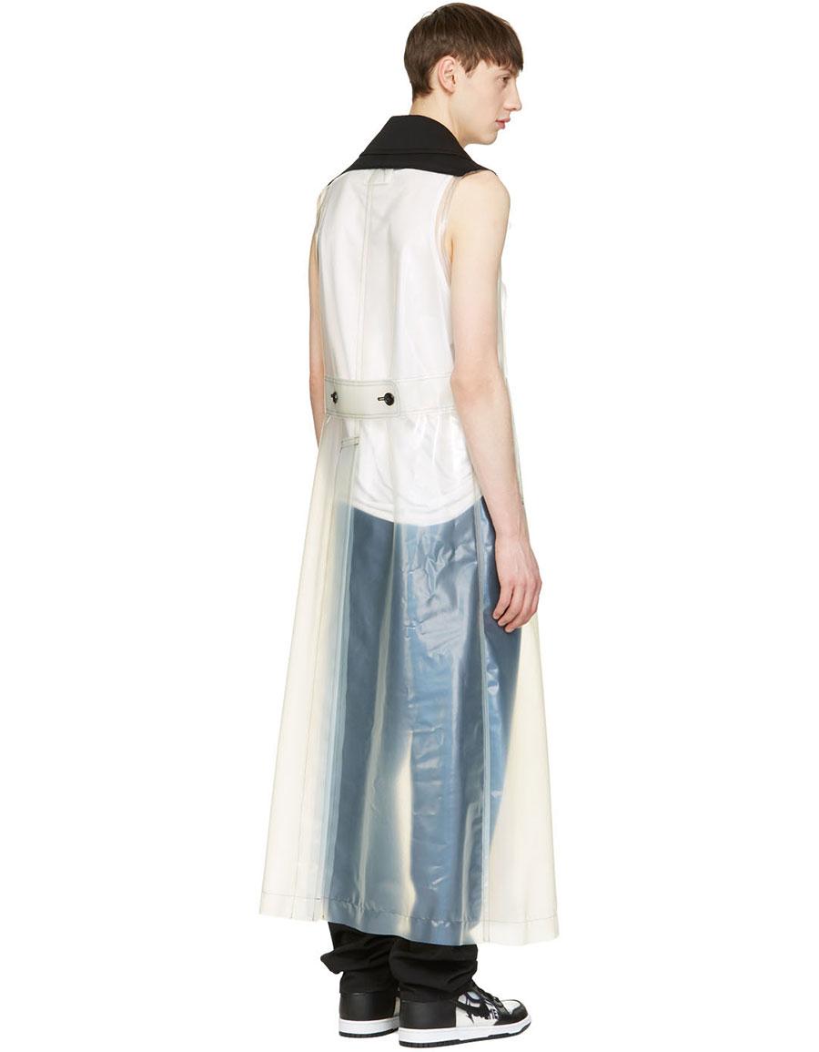 COMME DES GARÇONS Transparent Polyurethane Sleeveless Coat
