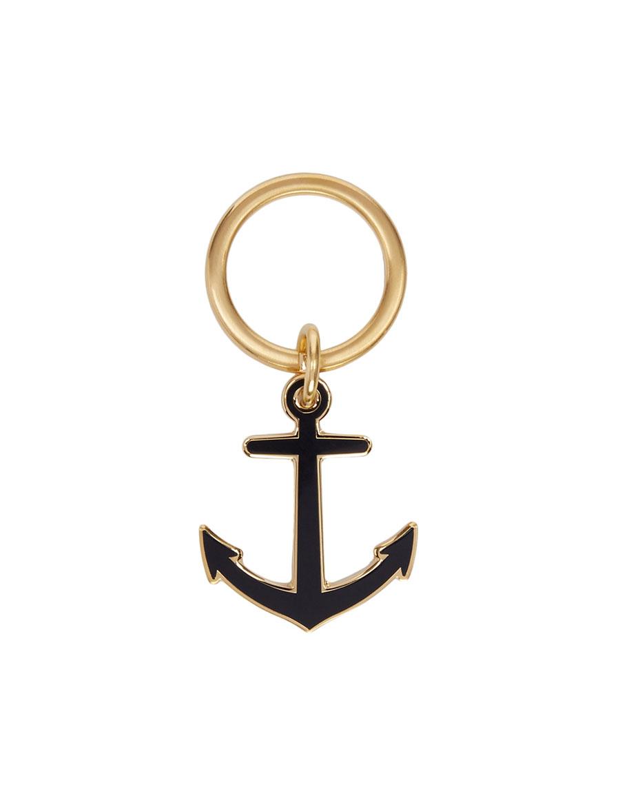 THOM BROWNE Navy Anchor Keychain