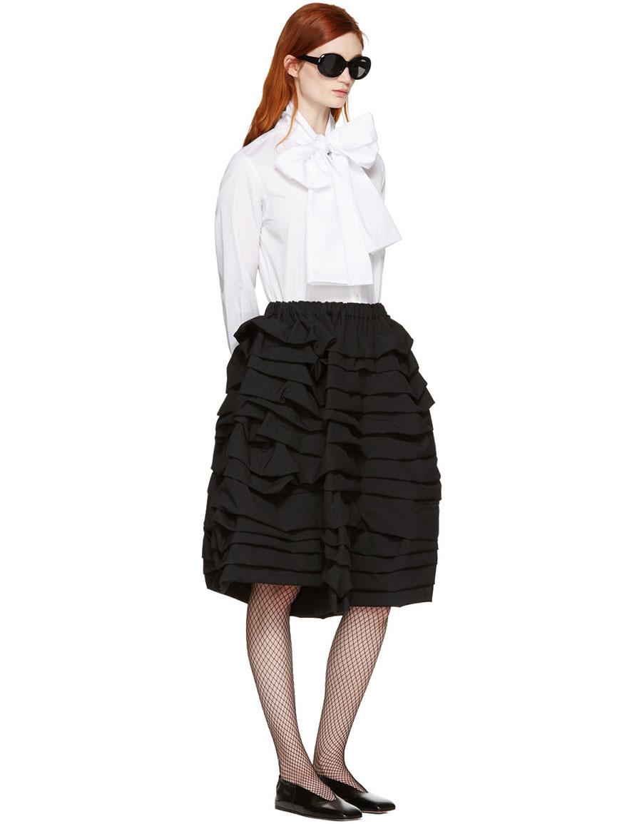 COMME DES GARÇONS Black Ruffle Shorts