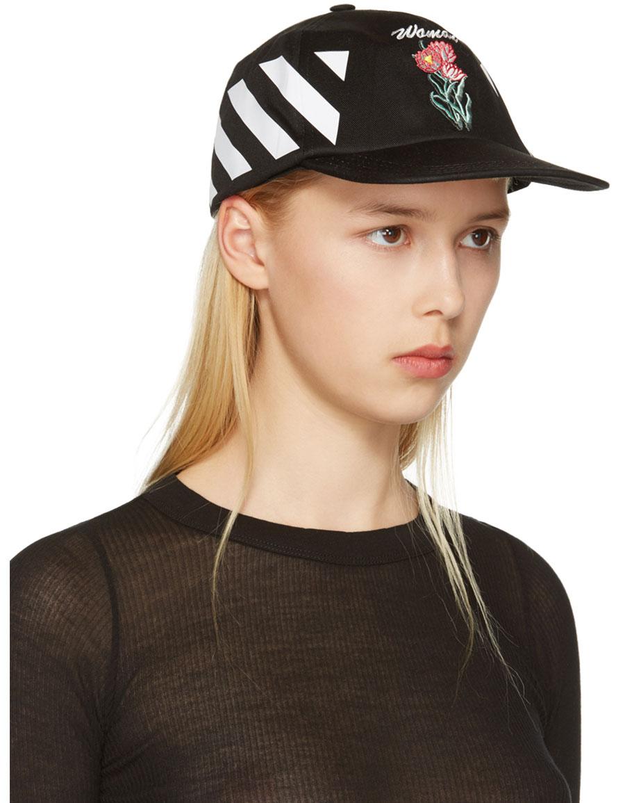 OFF WHITE Black New Flower Cap