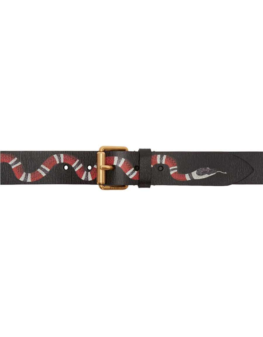 gucci black leather snake belt vergle. Black Bedroom Furniture Sets. Home Design Ideas