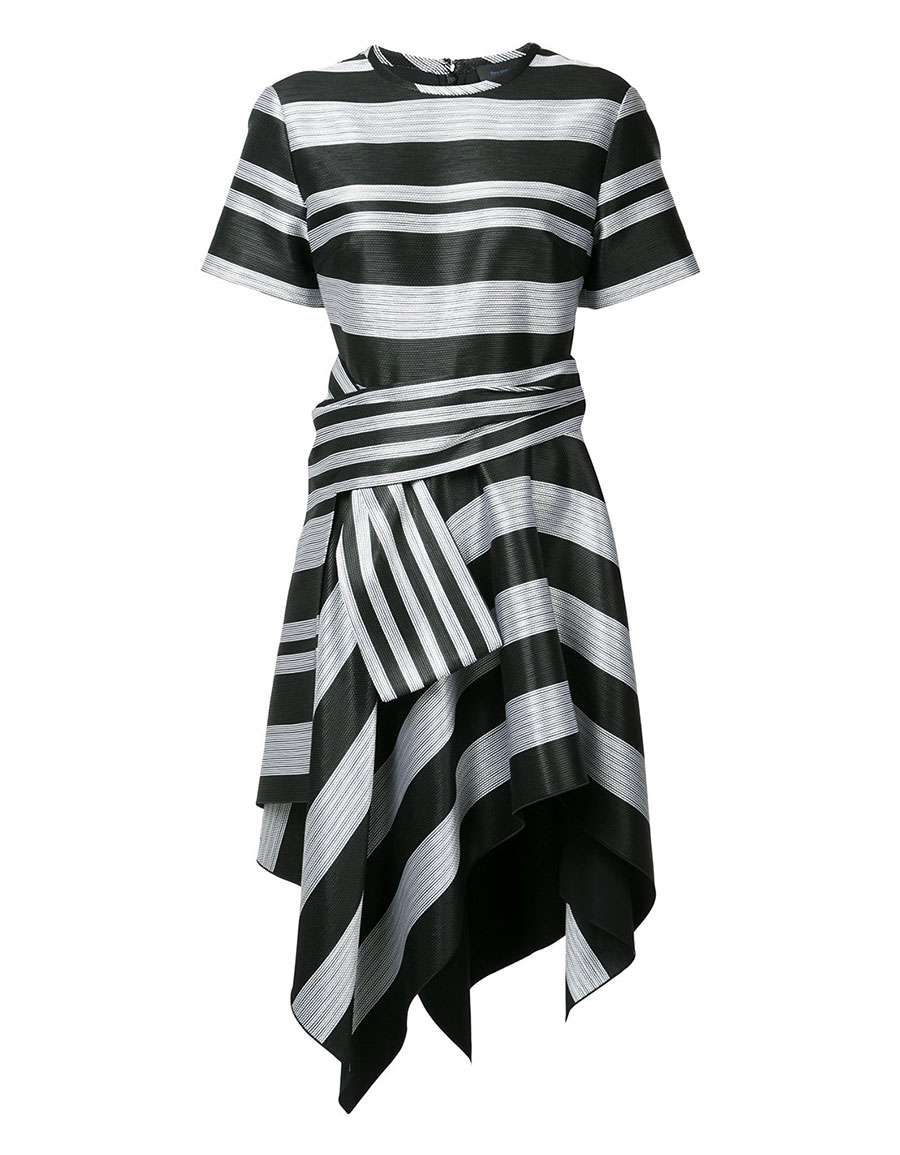 PROENZA SCHOULER Asymmetric stripe dress