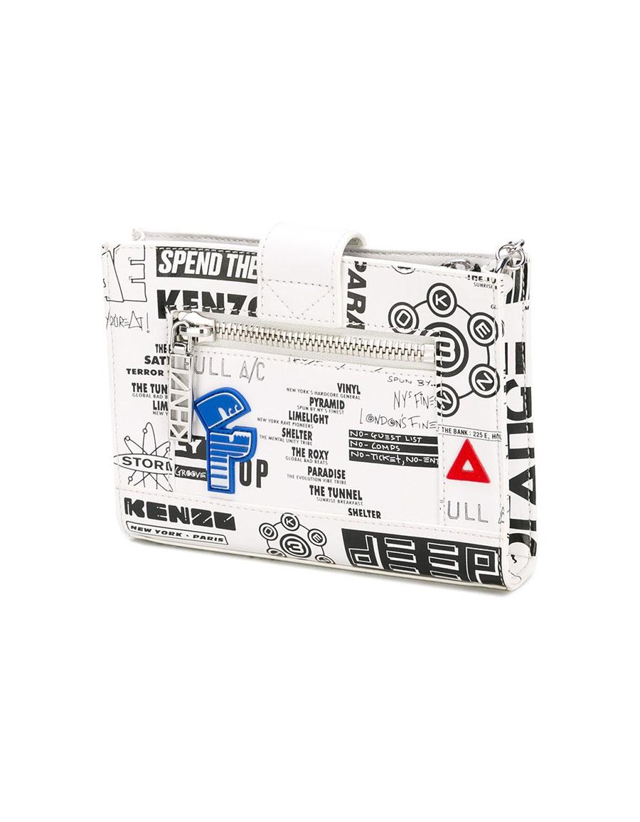 KENZO Kalifornia flyers print chain wallet