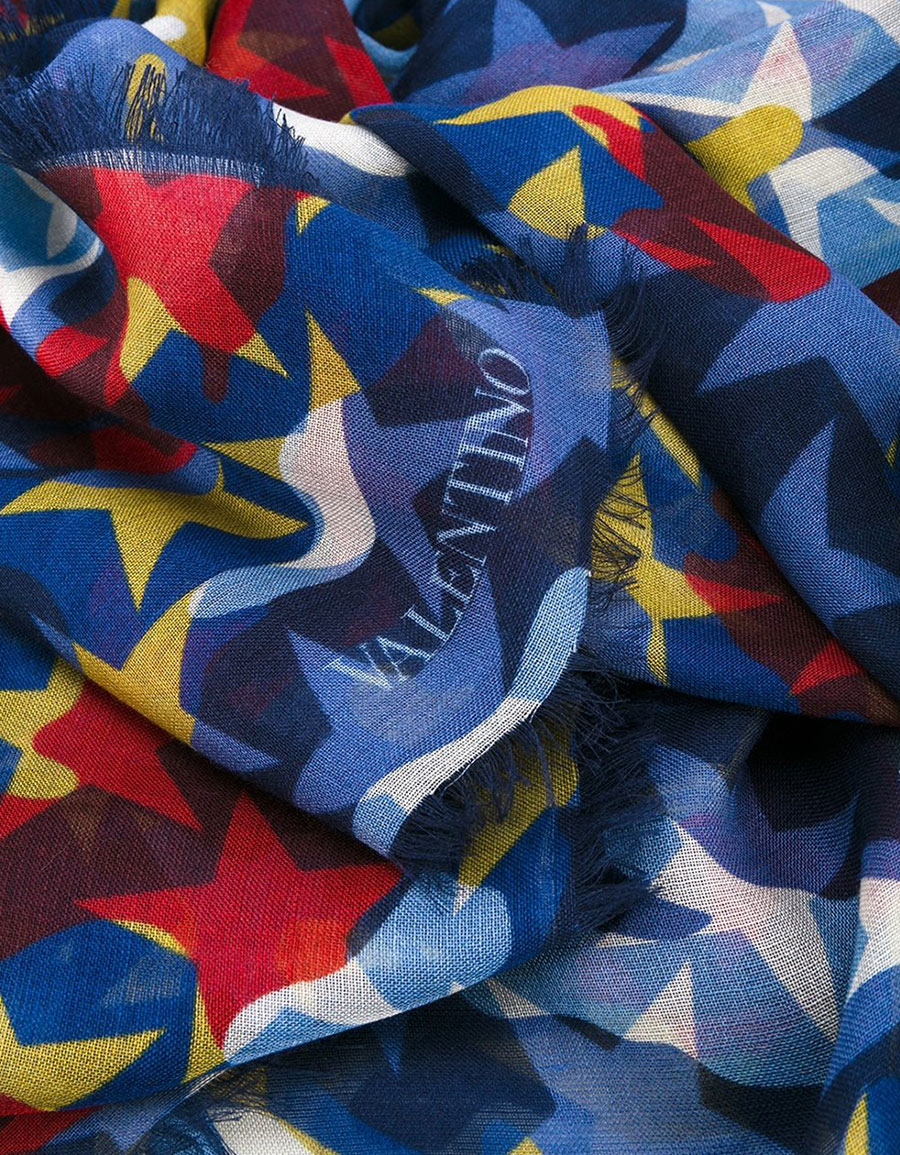 VALENTINO Valentino Garavani 'Camustars' scarf
