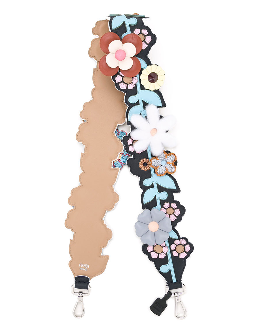 FENDI Floral embroidered strap