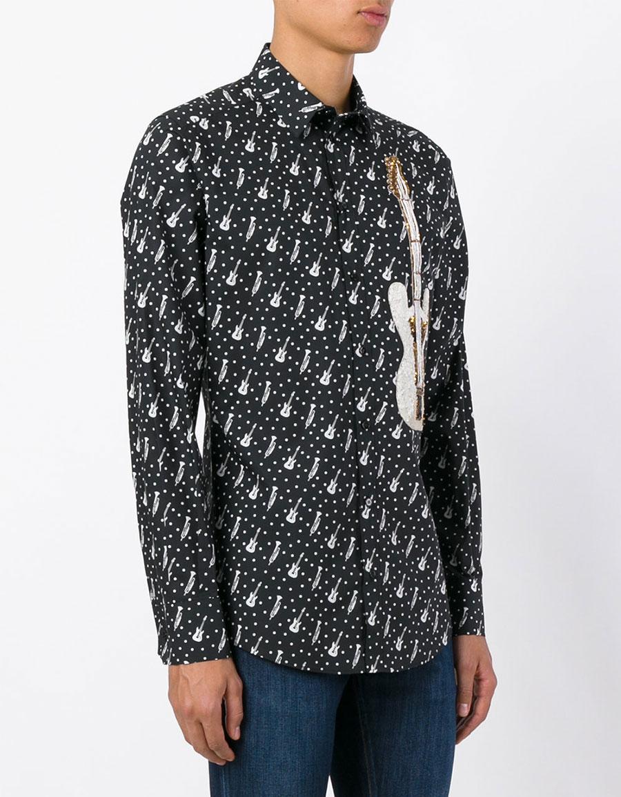DOLCE & GABBANA Musical patch shirt