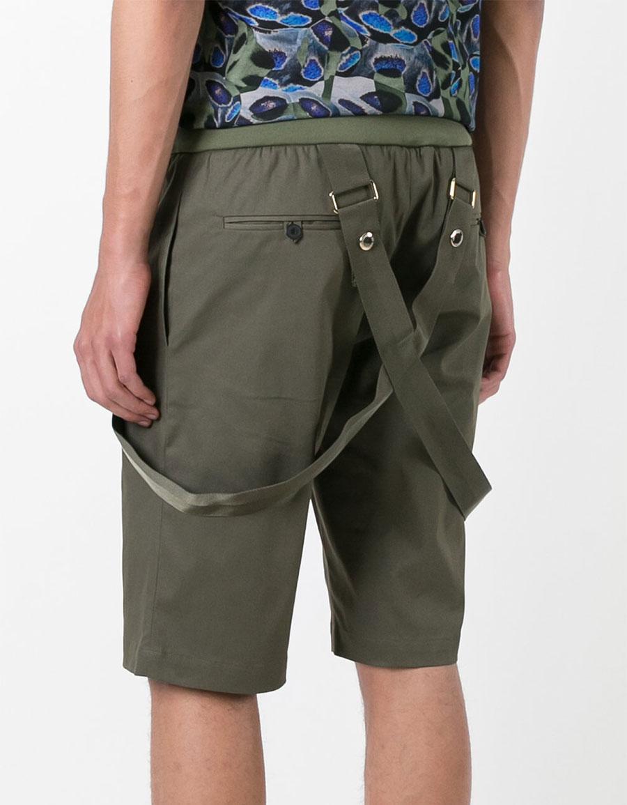 LES HOMMES Strap detail shorts