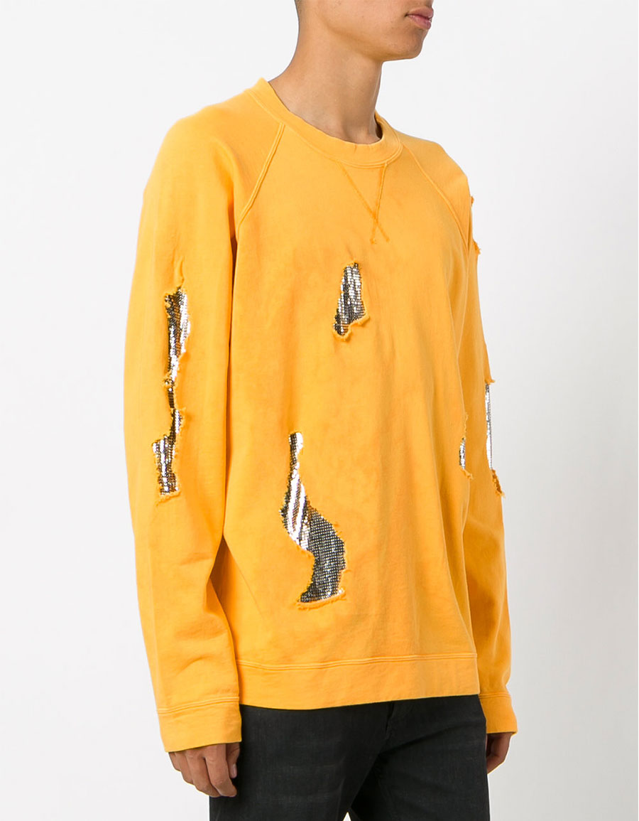 VERSUS Metallic patch sweatshirt