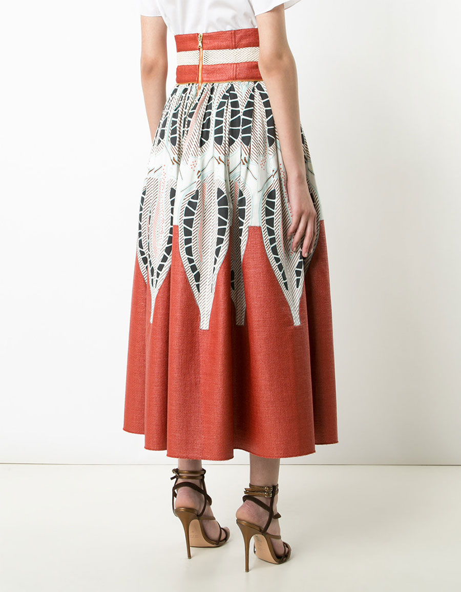 SOPHIE THEALLET Printed A line skirt