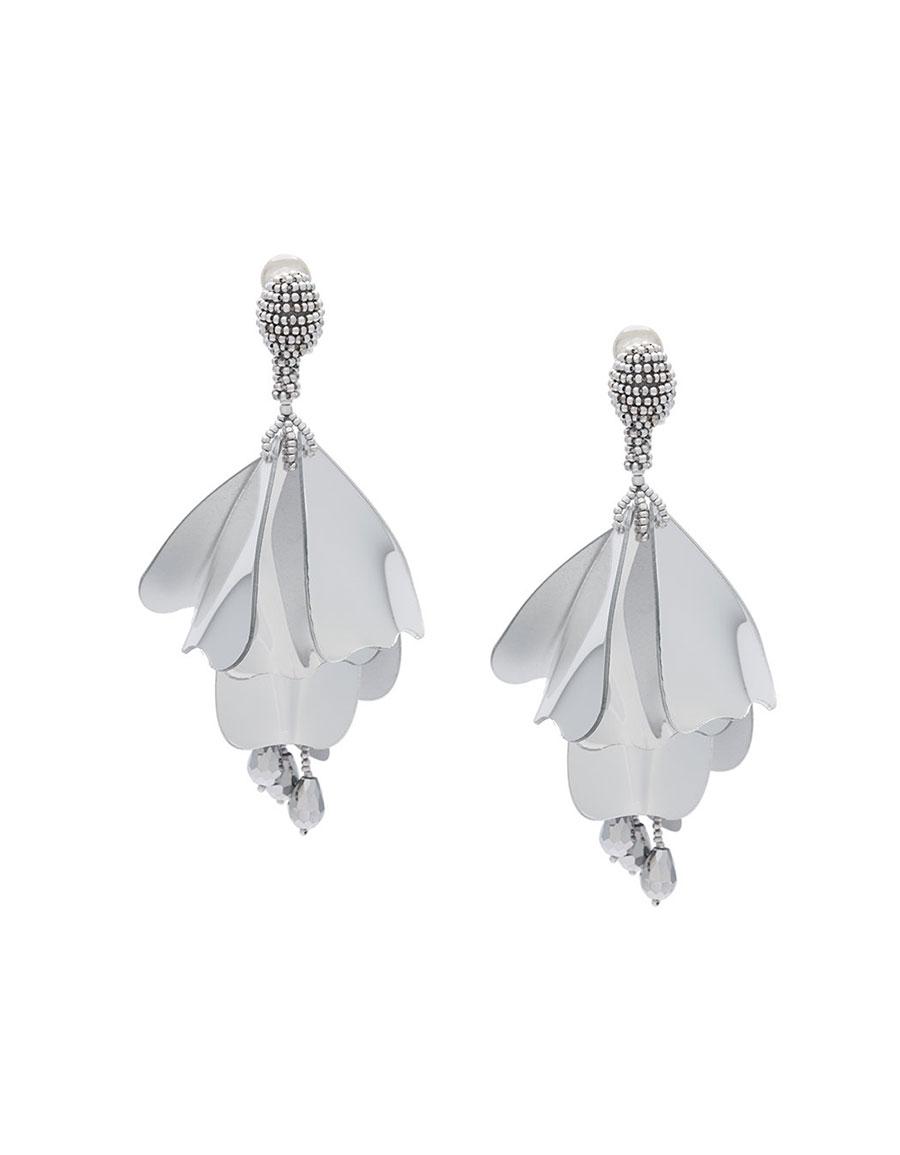 OSCAR DE LA RENTA Lace impatiens earrings